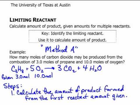 Limiting Reactant Mol Mol Method A