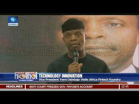 Osinbajo Visits Africa Fintech Foundry Pt 3 | News@10 |
