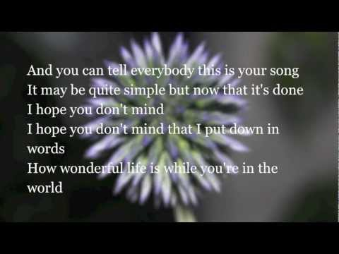 Elton John - Your Song - Lyrics - HD