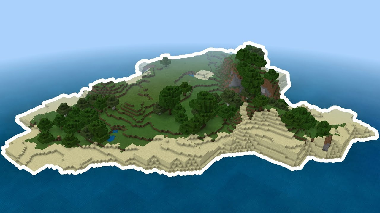 Large Survival Island Seed Minecraft Seed Mcpe Xbox Switch W10