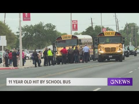 11-year-old girl struck by school bus in front of Ray High School