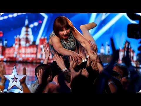 Barbara Nice's naughty one-liners have crowd in HYSTERICS | Auditions | BGT 2019