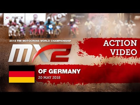 Jed Beaton & Thomas Kjer Olsen Battle + Crash - MXGP of Germany 2018