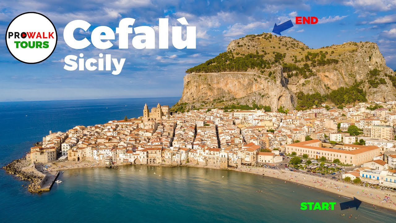 Cefalù, Sicily Walking Tour in 4K- June 24th, 2020