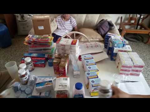 Medicines collected on May and received in Venezuela June 22nd 2018