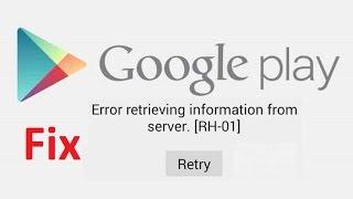 error retrieving information from server rh-01!! Fix - Howtosolveit
