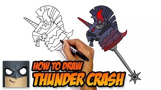How to Draw Fortnite Weapons | Thunder Crash | Step-by-Step
