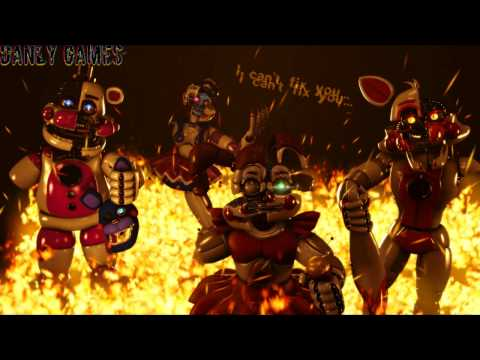 (FNAF-SFM) - I can't fix you - (time lapse) (Song by: The Living Tombstone)