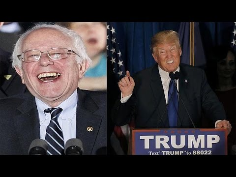 Saunders and Trump make the noise in New Hampshire