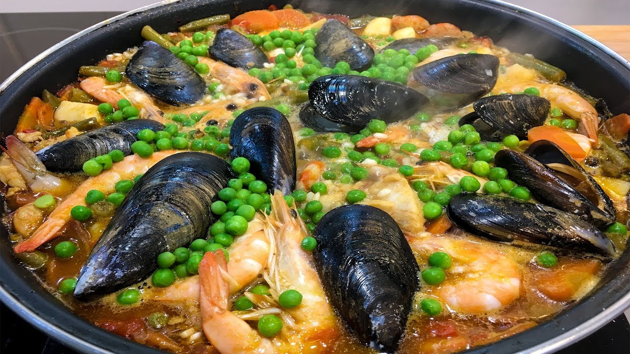 Рецепт Испанской ПАЭЛЬИ с Морепродуктами / Очень вкусно и просто