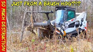 Can we break a Brush Mower by cutting full sized trees, heavy brush, stumps & whatever we find