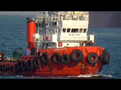 HYUNDAI HT 112 - Tugboat Tows Failure Cargo Ship, WAN HAI