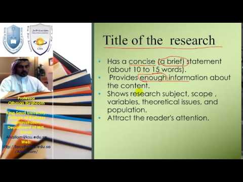 2- how to write title of your research - YouTube