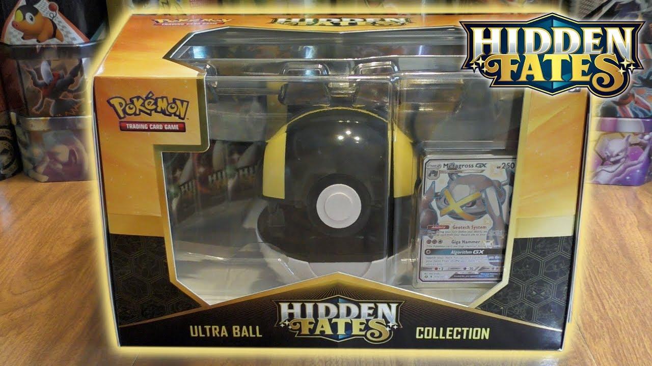 NEW Pokemon Hidden Fates Shiny Zoroark GX /& Metagross-GX Poke Ball Collection