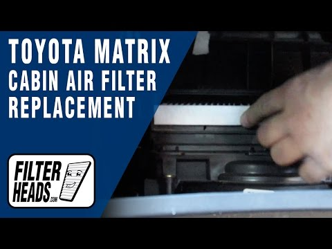 2009 toyota matrix cabin air filter