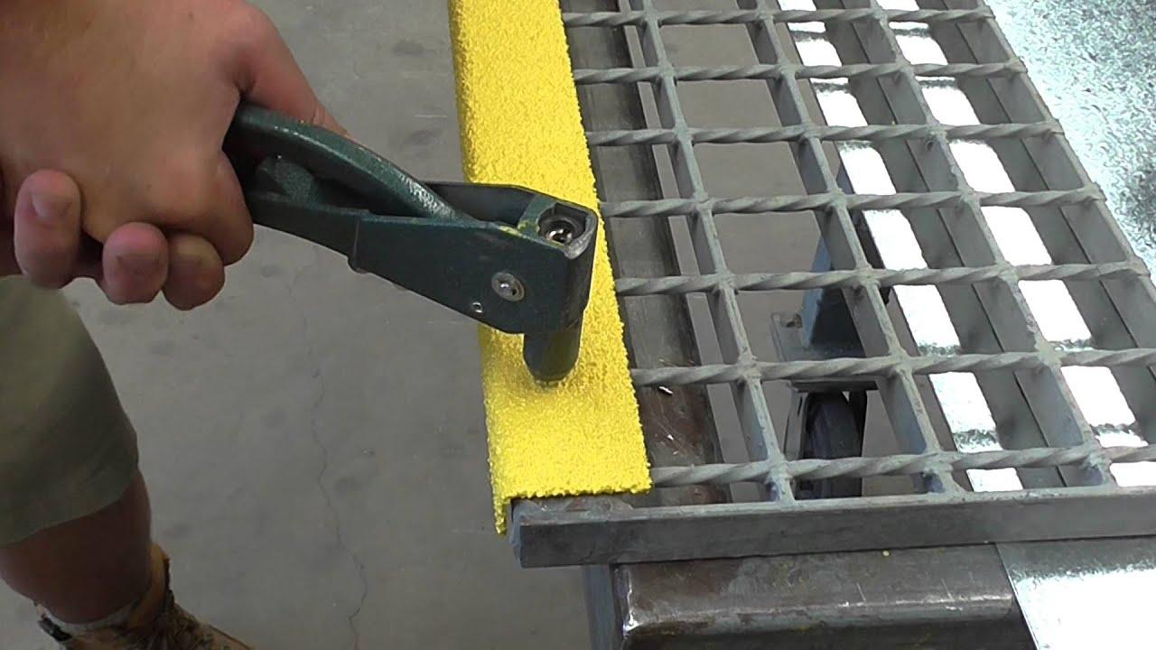 Install Ceramabond Nosing Onto Checker Plate Stair Tread