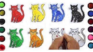Color Learning for Baby, Toddler, Drawing Cat and Colors with Kids Activities, Color for 2years old