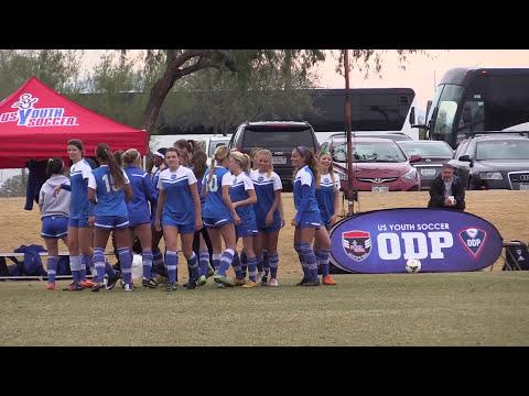 2016 Girls Soccer ODP Region 4 Final - Cal South vs Utah