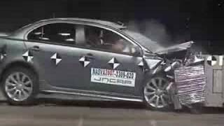 Crash Test 2008 Mitsubishi Lancer / Galant Fortis  (Frontal Offset Test) JNCAP