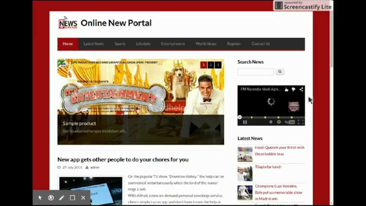 php project on online news portal youtube. Black Bedroom Furniture Sets. Home Design Ideas