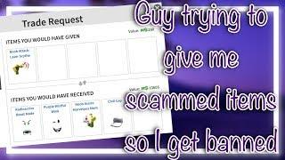 Roblox SCAMMER dando-ME roubado LIMITEDS | Trolling