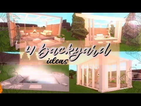 Bloxburg 4 Cute Backyard Ideas Youtube