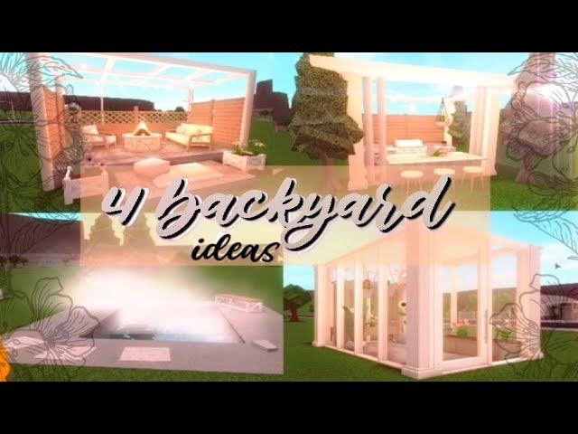 Bloxburg Ideas For Your Backyard Youtube
