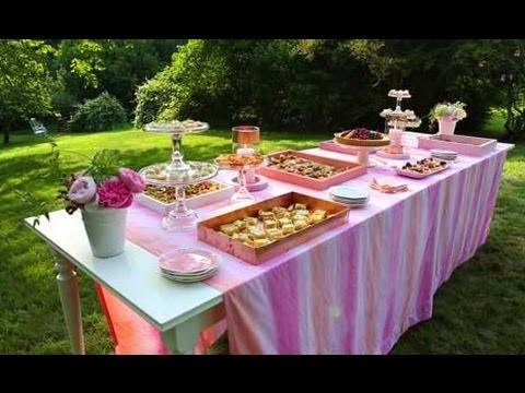 summer party setting up an outdoor buffet table youtube