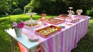 Summer Party: Setting Up An Outdoor Buffet Table