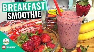 Healthy Breakfast Smoothie  BTS Breakfast Smoothie Recipe  Low-Fat Smoothie  Yakult Smoothie
