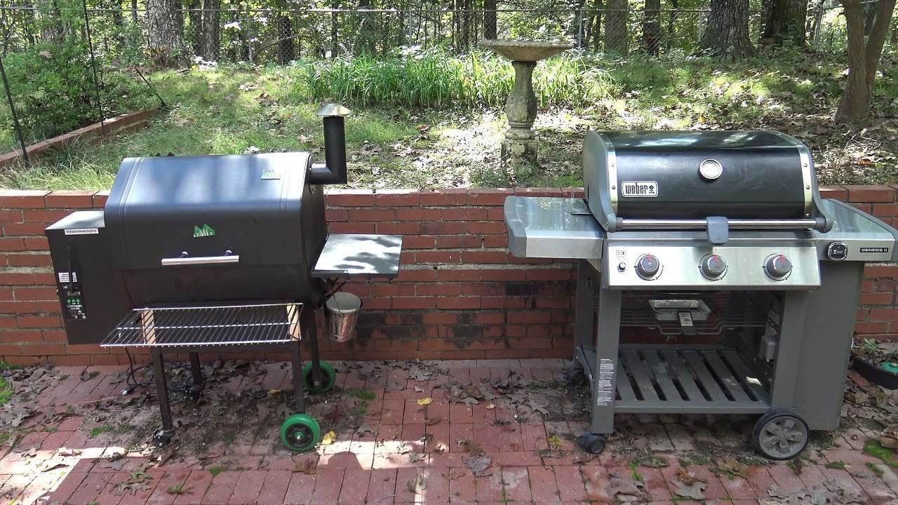 Weber Elektrogrill Vs Gasgrill : Gas grill vs pellet smoker. which is best for you? youtube