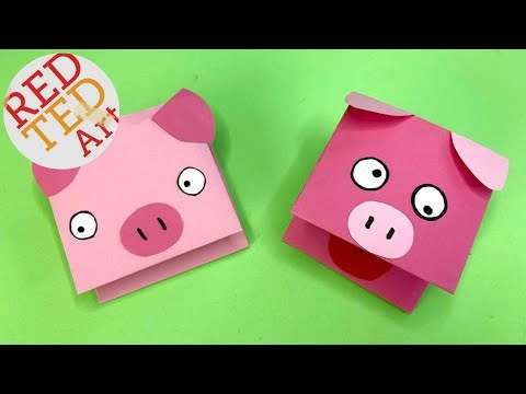 Paper Pig Puppet Craft - Easy Pig DIYs