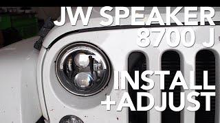 jw speaker 8700 j installation horizontal aim adjustment