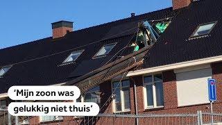 VLAARDINGEN: Heikraan valt op woning, niemand thuis