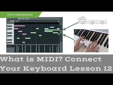 What is MIDI? A Basic introduction: Connect Keyboard Lesson 12