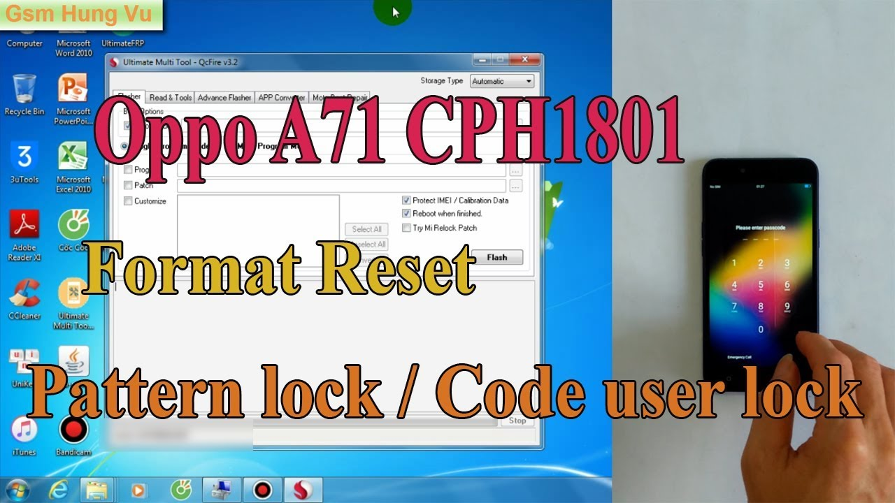 Oppo A7 Unlock Umt