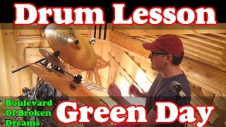Уроки игры на барабанах Green Day  Boulevard Of Broken Dreams (Russian language) Drum lessons Ddrums
