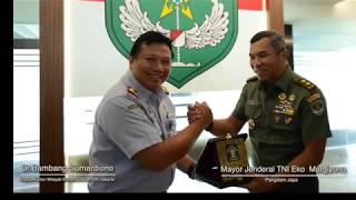 Audiensi Kepala Kantor Wilayah Kemenkumham DKI Jakarta Dengan Pangdam di Makodam Jayakarta Raya