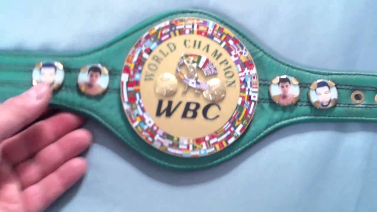 celine pouch clutch - WBC Mini Championship belt signed by Boxing Champion Danny G - YouTube