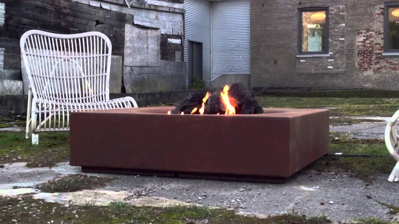 Caldera Corten Fire Pit - Caldera Corten Fire Pit - YouTube
