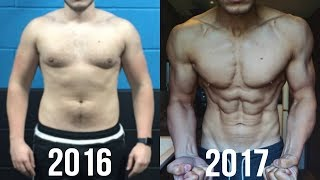 Gambar cover NATURAL 1 YEAR BODY TRANSFORMATION   JOSH SULLIVAN 20-21 (50+LBS FAT LOSS)