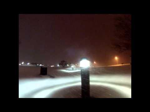 Snowy Walk To Buckroe Beach