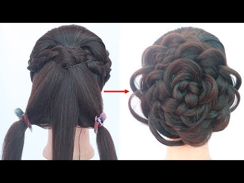 easy hairstyle with trick || latest hairstyle || party hairstyle || prom hairstyle || hairstyle thumbnail