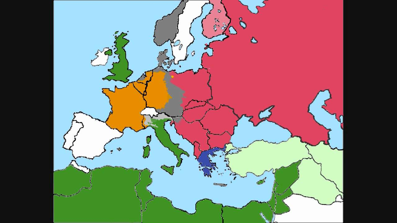 World War Europe Simulation Part YouTube - Central europe map 1945