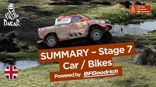 Summary - Car/Bike - Stage 7 (La Paz / Uyuni) - Dakar 2018