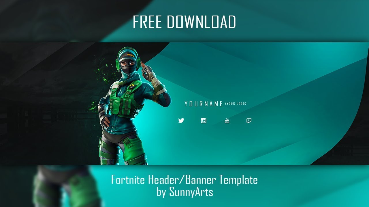 Free Fortnite Banner Header Template 2019 Sunnyarts