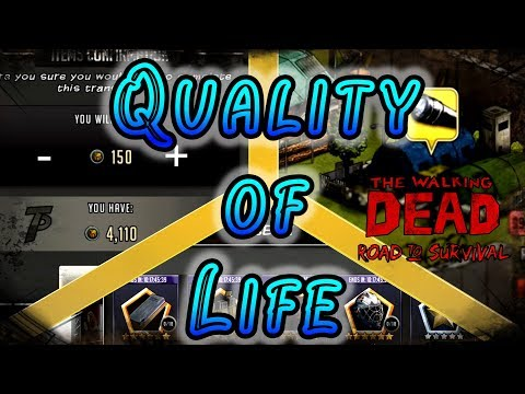 Quality of Life Suggestions! Ideas From The Community! The Walking Dead Road To Survival