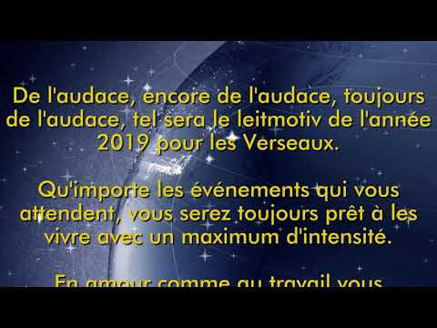 Horoscope verseau 2019