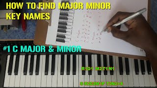HOW TO FIND MAJOR MINOR KEY NAMES / MY MUSIC MASTER