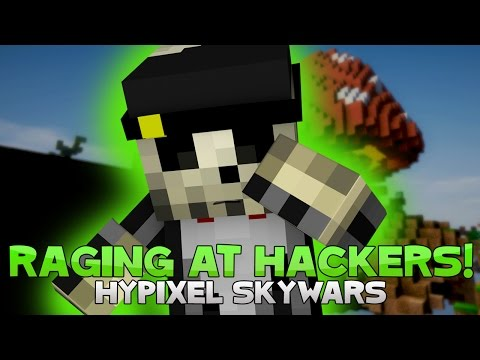 RAGING AT HACKERS + CARRIES ARE REAL! ( Hypixel Skywars )
